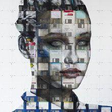 recycled media art