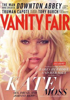Kate Moss on Vanity Fair December 2012