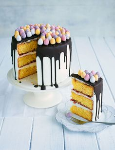 This mini egg cake is a Easter showstopper.