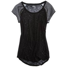 Aerie Shine Dot Sleeve T-Shirt ($12) ❤ liked on Polyvore