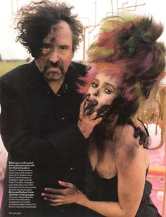 tim burton and helena bonham carter - haha, love this pic : )