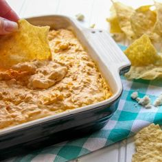 This is the BEST chicken dip you will try. Chicken with Greek yogurt and cheeses. So delicious. Everyone will rave.
