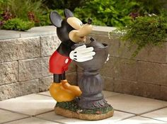 NEW Disney Mickey Mouse Water Fountain Garden Patio Ourdoor Yard Deck Decor Disney Micky Maus, Mickey Y Minnie, Mickey Mouse House, Mickey Mouse And Friends, Minnie Mouse, Casa Disney, Disney Dream, Figurine Disney, Disney Garden