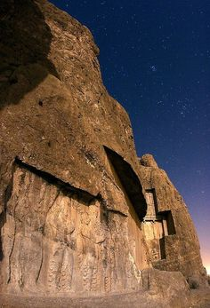 Ancient Poster featuring the photograph Naqshe Rostam At Night, Iran by Science Photo Library Iran, Ahura Mazda, Sassanid, Library Posters, Ancient Persia, Science Photos, King Of Kings, The World's Greatest, Photo Library