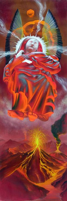 Red Angel of Peace Overcoming War || Collaborative Works @ Aloria Weaver