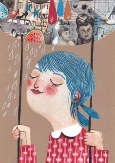 girl on a swing: