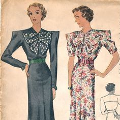 1930s Rosineparis dress pattern  McCall 8833 by PatternVault