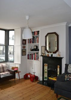 Sue & Graham's Eclectic Victorian Townhouse - apartment therapy - like the shelves in the alcove