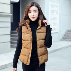 a6a733d41ff73 Plus Size Winter Women Vest Hooded Jacket Warm Gilet Ladies Sleeveless  Waistcoat Plus Size Winter,