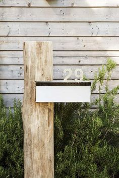 Ideas for house front ideas curb appeal driveways Modern Mailbox, Diy Mailbox, Plate Design, Facade House, House Numbers, Beach House Decor, House Front, Garden Inspiration, Curb Appeal