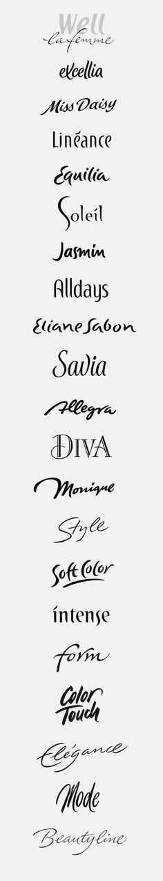 logotypes: feminin, elegant on Behance
