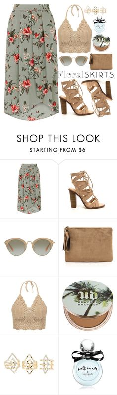 """""""Summer Floral Skirts"""" by samang ❤ liked on Polyvore featuring Miu Miu, Urban Decay, Charlotte Russe, Kate Spade and Floralskirts"""