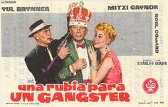 Una Rubia para un Gángster - Programa de Cine - Yul Brynner - Mitzi Gaynor