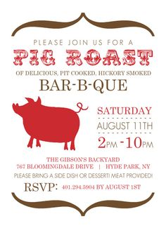 32 best pig roast invitations images on pinterest invitations