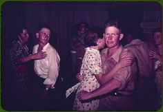 *Couples at square dance. McIntosh County, Oklahoma, 1939 or 1940, Reproduction from color slide. Photo by Russell Lee. Prints and Photographs Division, Library of Congress