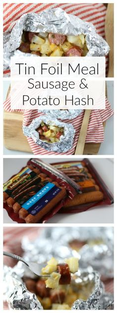 Tin Foil Meal: Sausage and Potato Hash #ad- The Taylor House