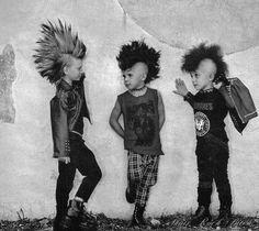 hehe aww lil punk rockers