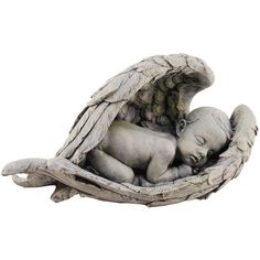A lovely Baby in Angel Wings statue for the garden - makes a perfect remembrance gift, too.