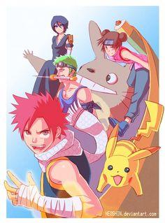 Tags: Anime, BLEACH, Kuchiki Rukia, NARUTO, ONE PIECE, Roronoa Zoro, FAIRY TAIL, Natsu Dragneel, POKEMON, Pikachu