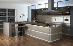 Modular kitchen #interiors with matt shade