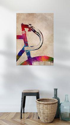 Fahrrad and Radfahren Rembrandt, Canvas, Illustration, Sports, Painting, Art, Bike Poster, Digital Art, Still Life