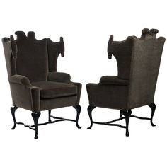 Arturo Pani Wingback Chairs | From a unique collection of antique and modern wingback chairs at https://www.1stdibs.com/furniture/seating/wingback-chairs/