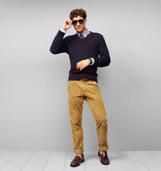 Tommy Hilfiger FW12 Madison Corduroy Pant and Oxford Shirt #tommyhilfiger #FW12 #menswear #corduroy