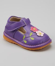Another great find on #zulily! Purple Squeaker T-Strap Shoe by Izzy Bug Creations #zulilyfinds