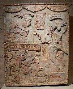 Presentation of Captives to a Maya Ruler; c. A.D. 785; Mexico, Usumacinta River Valley, Maya culture, Late Classic period (A.D. 600–900); Li...