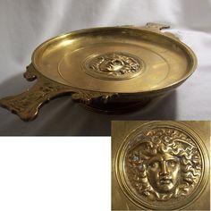 COUPE bronze XIXème LEVILLAIN et BARBEDIENNE médaillon MEDUSE gorgone Mythologie