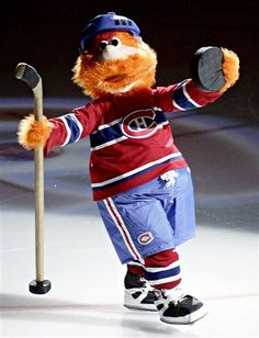 Youppi the original mascot from the Montreal Expos now working for the Canadiens. Ice Hockey Teams, Hockey Players, Hockey Mom, Montreal Canadiens, Canada Hockey, Hockey Pictures, Hockey Season, Team Mascots, Nhl News
