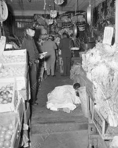 Photo Archive of the New York Daily News - Frank Scalise crime scene photo the Bronx, New York. Marlo Brando, Albert Anastasia, Bronx Nyc, Mafia Gangster, New York Daily News, Gangsters, Photo Archive, Mug Shots