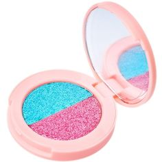 Lime Crime Malibu/Convertible Superfoil Eyeshadow Duo ($18) ❤ liked on Polyvore featuring beauty products, makeup, eye makeup, eyeshadow, beauty and lime crime