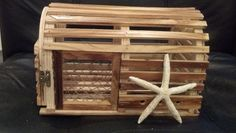 Brown Wooden Lobster Traps For Sale! : wedding beach weddings brown brown lobster trap lobster trap small brown lobster trap BrownLobsterTrapBox