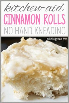 Homemade Cinnamon Rolls that can be dairy-free and egg-free, require no hand-kneading, no bread machine needed. Just use your Kitchen Aid Mixer and dough hook! Vegan recipe at Milk Allergy Mom! Egg Free Recipes, Milk Recipes, Dessert Recipes, Kitchen Aid Recipes, Vegan Cinnamon Rolls, Dairy Free Breakfasts, Dairy Free Eggs, Vegan Kitchen, Recipe For Mom