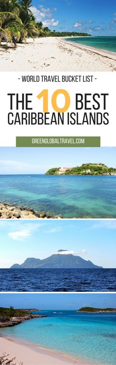 Take a look at our list of the 10 best Caribbean islands for your travel bucket list! | Culebra | Puerto Rico | Dominica | Grenada | Isla Holbox | Mexico | Little Corn Island | Nicaragua | Maria-Galante Guadeloupe | Montserrat | Rosario Islands | Colombia | Saba | Netherlands Antilles | Staniel Cay | Bahamas |
