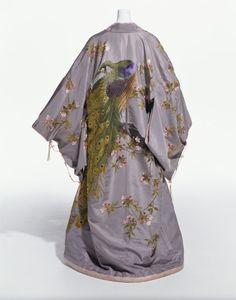 """Iida Takashimaya kimono-style robe for Western export ca. 1906 via The Kyoto Costume Institute"" - One of my favourite things."