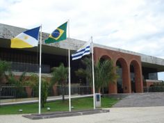 Araguaia Palace - Flags of Tocantins State, Brazil and City of Palmas RNL