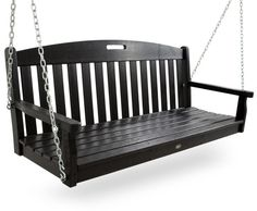 Trex Outdoor Furniture Yacht Club Porch Swing -CHARCOAL BLACK