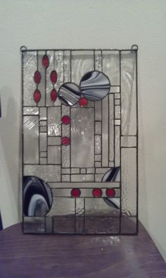 Stained Glass Abstract Transom Window Panel Valance by HelioGlass ...