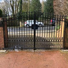 We design and fabricate ornate steel gates to your exact designs. All steel gates are hot dipped galvanised before being powder coated. Aluminum Driveway Gates, Drive Gates, Steel Gate, Deck, Outdoor Decor, Powder, Hot, Design, Home Decor