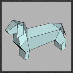 Animal Paper Model - Simple Dachshund Dog Free Template Download - http://www.papercraftsquare.com/animal-paper-model-simple-dachshund-dog-free-template-download.html