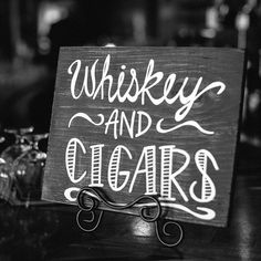 Whiskey & Cigar Bar Sign by MadeByMcAllister on Etsy