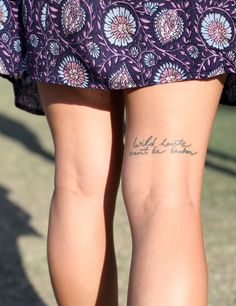 This is LITERALLY the only leg tattoo (not including ankles) that I've ever seen that I liked