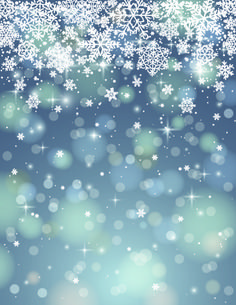 Vector Winter snowflakes background 03