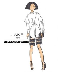 CARTOONS GO COUTURE: ANIMATED LADIES PAIRED WITH HIGH FASHION -- Jane for Alexander WANG