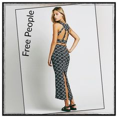 ✨Free People Havana Nights Maxi Skirt And Top Set✨ ✨Free People Charming Batik Patterned Textured And Printed Crop Top And Maxi Skirt Set In Very Lightweight, Easy Fabric✨97% Cotton/2% Polyester/1% Spandex✨Top Features An Open Caged Back And The Maxi Skirt Had A Slit In Back With An Elastic Waistband✨Size Medium✨ Free People Skirts Maxi