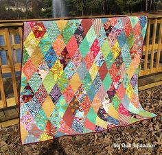 My Quilt Infatuation: My Quilts • she has lots of great scrappy quilts on this site
