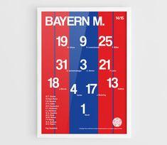 FC Bayern Munich 2014-2015 Football team squad by NazarDes on Etsy FCBM  Bayern Munchen  Champions League  Bundesliga Mia San Mia  Thomas Muller  Manuel Neuer  Arjen Robben  Josep Pep Guardiola