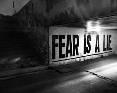 Fear is just a lie.